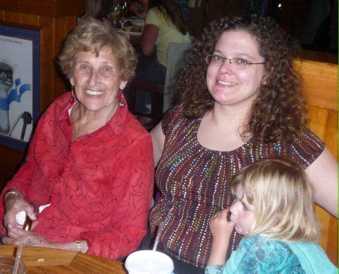 Birthday girls Eleanor Gray, Dawn Siemer and Kara Siemer