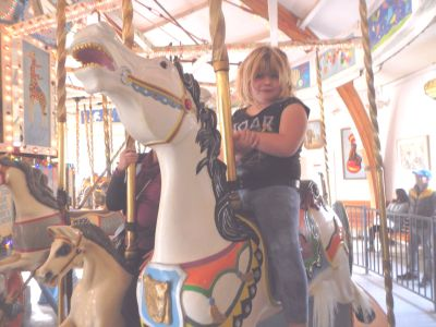Kara Siemer on the carousel.