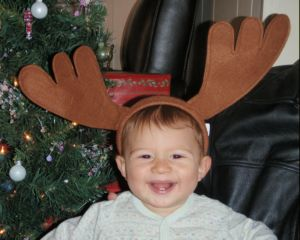 Clive Baker with reindeer horns