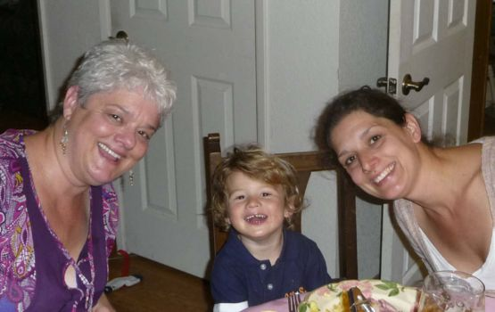 Janet Gray, Clive Baker and Holly Baker at Easter 2010