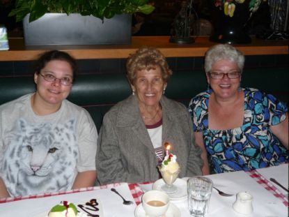 Dawn Siemer, Eleanor Gray, and Janet Gray at Eleanor's 88th birthday party.