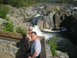 Michael and Janet Gray at Great Falls Park
