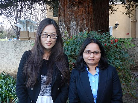 Our new interns Siyu Zheng and Prasanti Mishra.