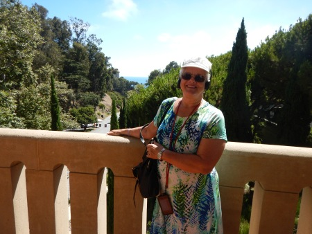 Mike's wife, Janet, at the Getty Villa