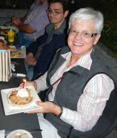 Janet Gray celebrates her birthday.