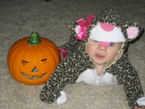 Kara Siemer, Michael Gray's granddaughter, as a leopard.