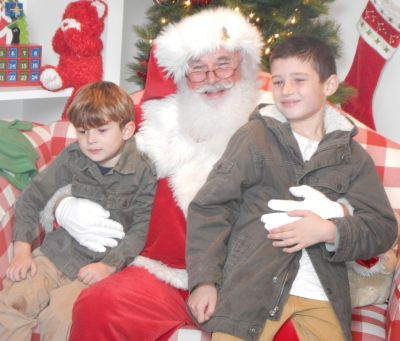 Kyan and Clive Baker with Santa Claus