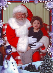Kyan Baker with Santa