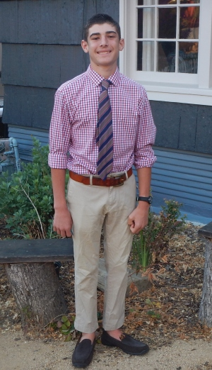 Kyan Baker, ready to go to his first Homecoming Dance at San Rafael High School