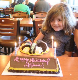 Minerva Siemer celebrates her 5th birthday.