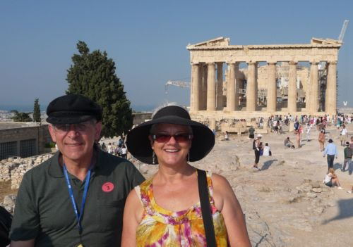 Michael and Janet Gray at the Parthenon.