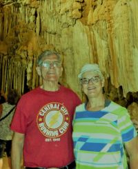 Mike and Janet in Lake Shasta Caverns.