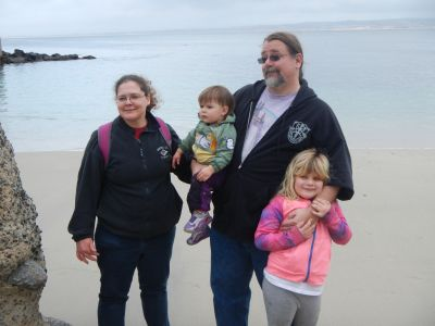 Dawn Siemer and family at Lover's Point, Pacific Grove