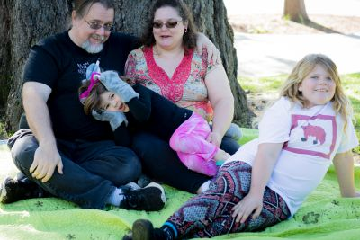 John, Dawn, Minnie and Kara Siemer at Sunnymont Westside Co-op Nursery School.