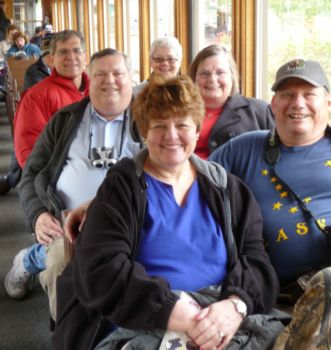 Michael and Janet Gray with family in Skagway, Alaska.