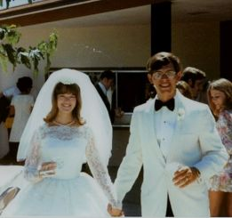 Mike and Janet Gray's wedding photo.